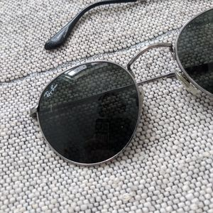 Ray Ban *Broken Arm* Round Silver Glasses